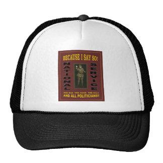 国民サービス トラッカー帽子
