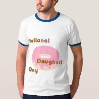 国民ドーナツ日のティー Tシャツ