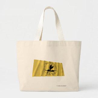 国民国会議事堂地区の振る旗 ラージトートバッグ