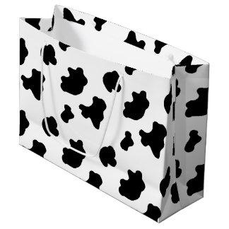国牛パターンlargのギフトバッグ ラージペーパーバッグ