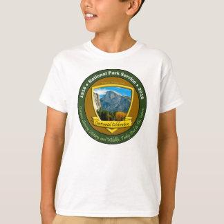 国立公園の百年間のワイシャツの半分のドームの子供 Tシャツ