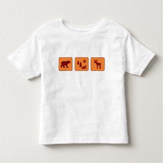 国立公園(茶色) トドラーTシャツ
