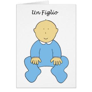 国連Figlioのそれは男の子、イタリア語の新生児です グリーティングカード