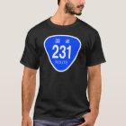 国道231 号線ー国道標識 Tシャツ
