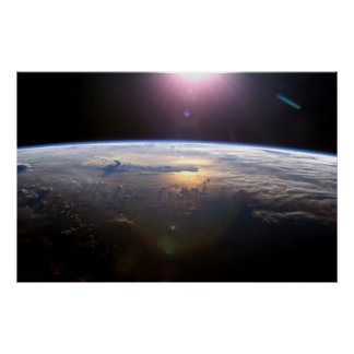国際宇宙局からの地球 ポスター