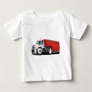 国際的で白赤い配達用トラック ベビーTシャツ