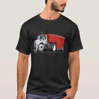 国際的で白赤い配達用トラック Tシャツ