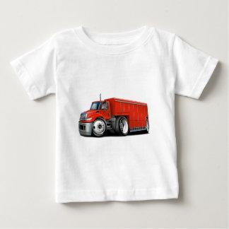 国際的で赤い配達用トラック ベビーTシャツ
