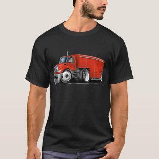 国際的で赤い配達用トラック Tシャツ