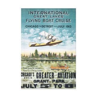 国際的な五大湖の飛行艇の巡航 キャンバスプリント
