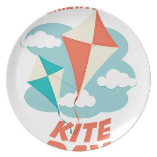 国際的な凧日-感謝日 プレート