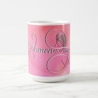 国際的な女性の日-ピンクの水彩画 コーヒーマグカップ