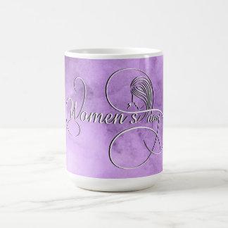 国際的な女性の日-紫色の水彩画 コーヒーマグカップ