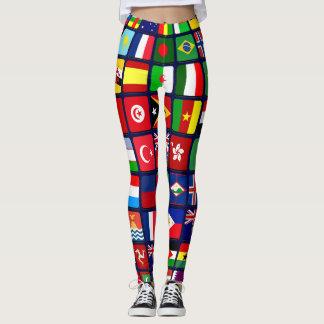 国際的な旗 レギンス