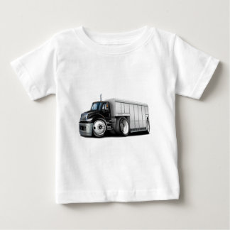 国際的な白黒の配達用トラック ベビーTシャツ
