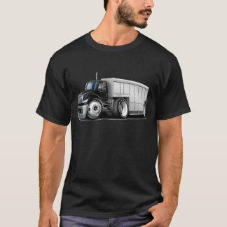 国際的な白黒の配達用トラック Tシャツ