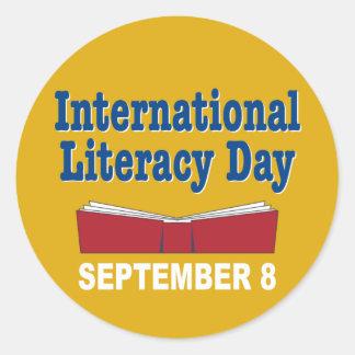 国際的な読み書き能力日 ラウンドシール