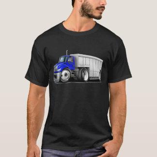 国際的な青白の配達用トラック Tシャツ