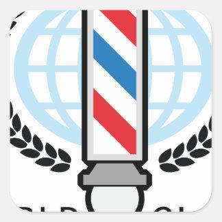 国際的レベルの理髪店 スクエアシール