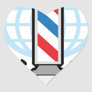 国際的レベルの理髪店 ハートシール