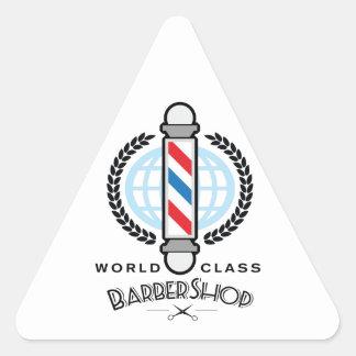 国際的レベルの理髪店 三角形シール