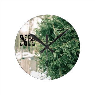国NHの冬 ラウンド壁時計