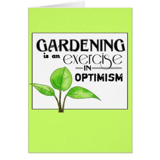 園芸は楽天主義のエクササイズです カード