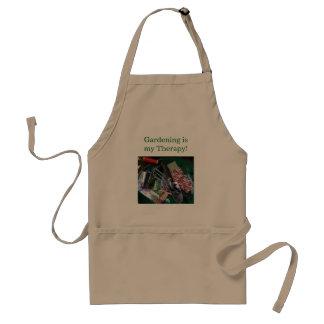 園芸は私のセラピーのエプロンです スタンダードエプロン