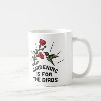 園芸は鳥のハチドリの花のためです コーヒーマグカップ