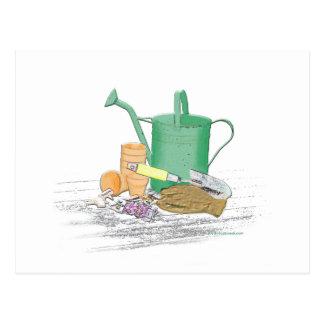 園芸工具の庭の芸術 ポストカード