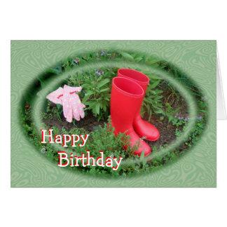 園芸赤は誕生日または大事な行事追い出します カード