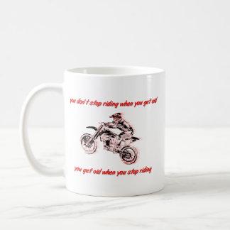 土のバイクのモトクロスのマグに乗ることを止めないで下さい コーヒーマグカップ