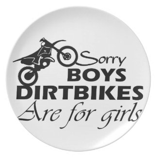 土のバイクの女の子 プレート