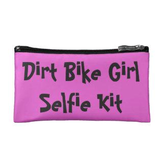 """土のバイクの女の子""""Selfieキット"""" コスメティックバッグ"""
