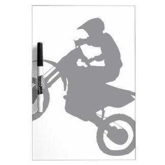 土のバイク(灰色) ホワイトボード