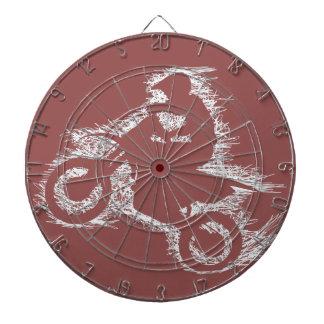 土のバイク(白い走り書き) ダーツボード
