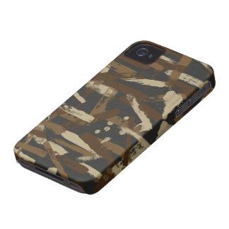 土のペンキの打撃のカムフラージュ Case-Mate iPhone 4 ケース