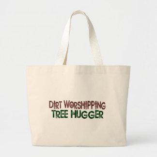 土の崇拝の木Hugger ラージトートバッグ