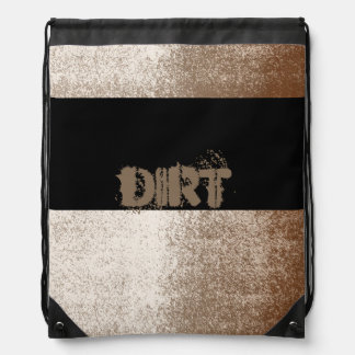 土の泥の恋人ブラウンおよびアイボリーのしぶきのスタイル ナップサック