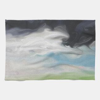 土地および道の芸術上の嵐 キッチンタオル