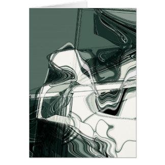 土地の形成抽象美術 カード