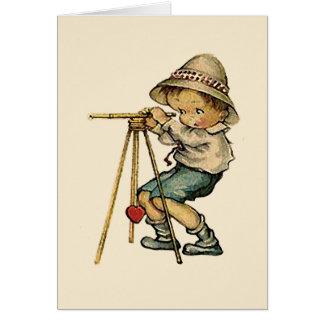 土地の検査官の本当愛-水平なカードの… カード
