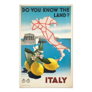土地を知っていますか。 イタリアの写真のプリント フォトプリント