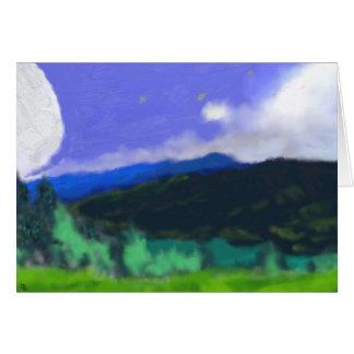 土地2の芸術上の月 カード