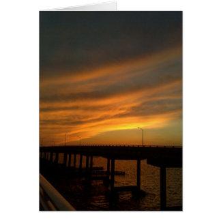 土手道のタンパの日没 カード