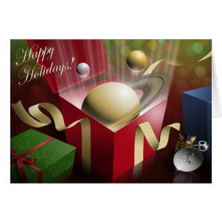 土星の幸せな休日 カード