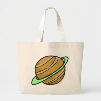 土星の惑星 ラージトートバッグ