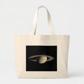 土星の惑星NASA ラージトートバッグ