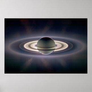 土星の日食 ポスター