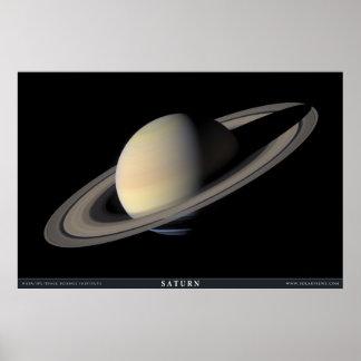 土星の最も素晴らしいポートレート ポスター